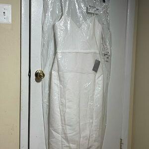 Amsale Faille Little White Dress
